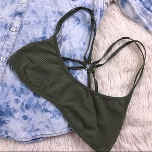 Intimately Free People XS/S Olive Moss bralette